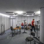 Aufnahmestudio für Hörspiele im Haus des Rundfunks in Berlin