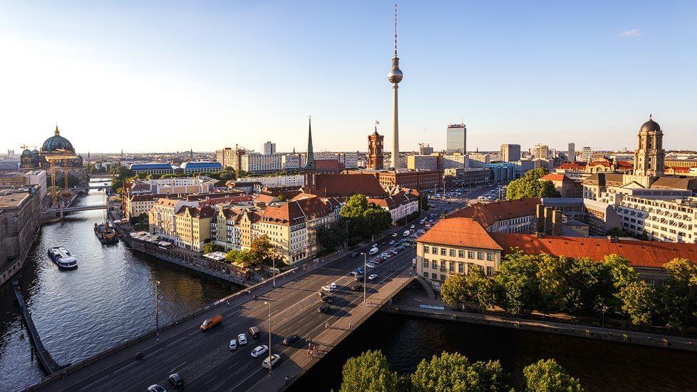 Die Skyline / Cityscape von Berlin