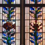 Fensterdetail im Roten Rathaus in Berlin