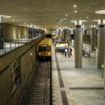 Innenansicht der U-Bahn-Station Bundestag in Berlin