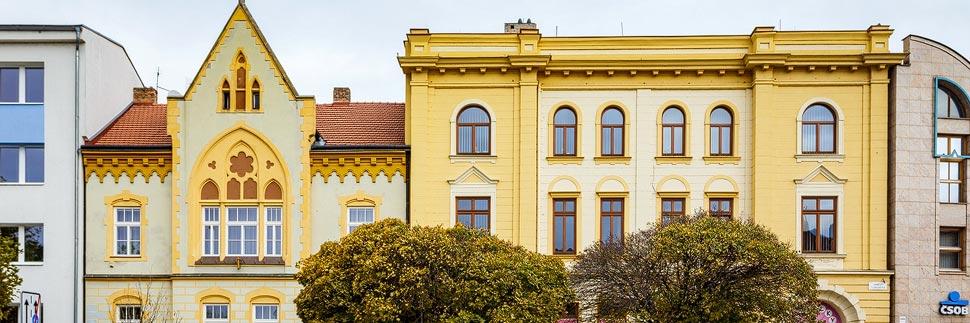 Historische Häuser in Břeclav (Lundenburg)
