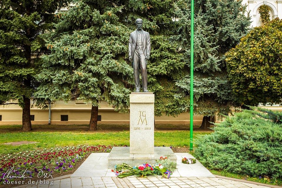 Statue von Tomáš Garrigue Masaryk in Břeclav (Lundenburg)