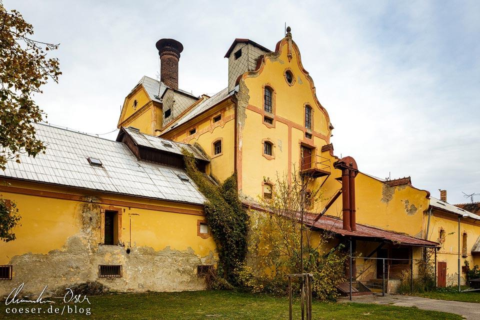 Verfallenes Brauereigebäude in Břeclav (Lundenburg)