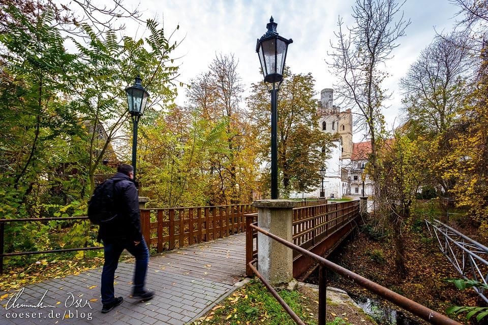 Parkanlage vor dem Schloss in Břeclav (Lundenburg)