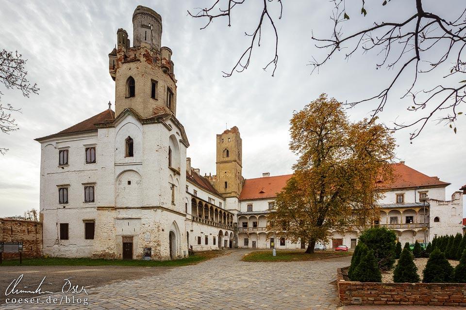 Außenansicht des Schloss Břeclav (Lundenburg)