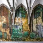 Detailansicht des Kreuzgangs des Fraumünsters in Zürich