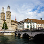 Das Grossmünster, die Münsterbrücke und die Wasserkirche in Zürich