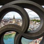 Ausblick auf Zürich vom Karlsturm des Grossmünsters