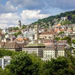 Ausblick vom Lindenhof auf Zürich