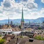 Ausblick von der Polyterrasse auf Zürich