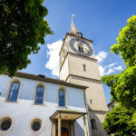 Außenansicht der Pfarrkirche St. Peter in Zürich