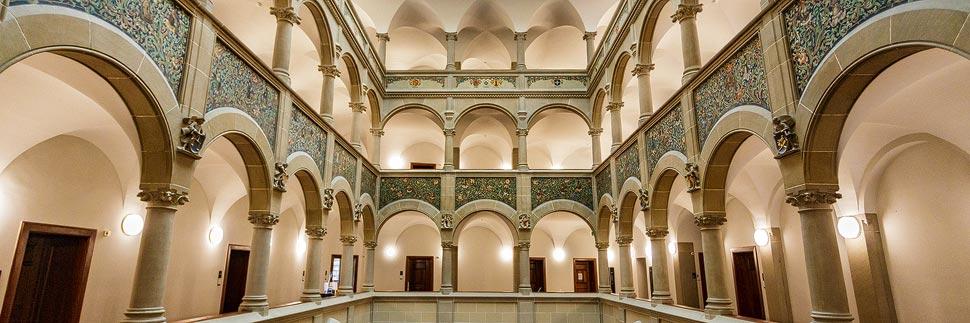 Innenansicht des Stadthauses in Zürich