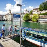 Anlegestelle Limmatquai der Limmat-Schifffahrt in Zürich