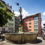 Einer der zahlreichen Trinkbrunnen in Zürich