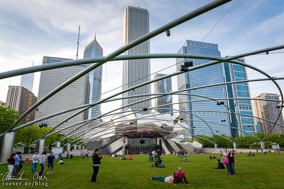 Jay Pritzker Pavillion von Stararchitekt Frank Gehry in Chicago