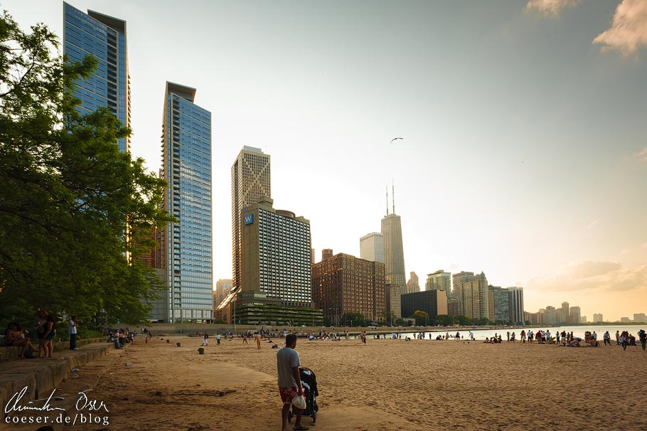 Skyline und Chicago Beach