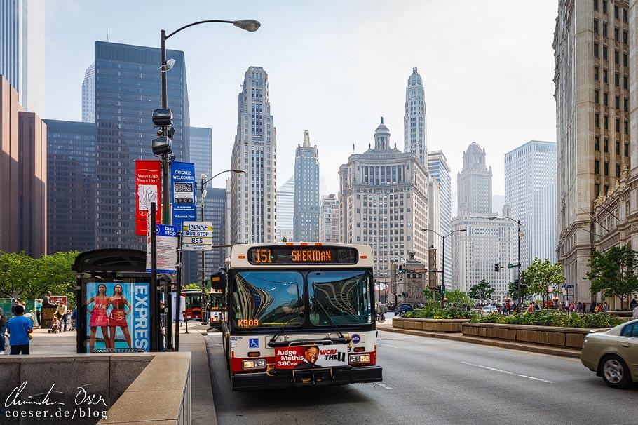 Wolkenkratzer auf der Magnificent Mile von Chicago