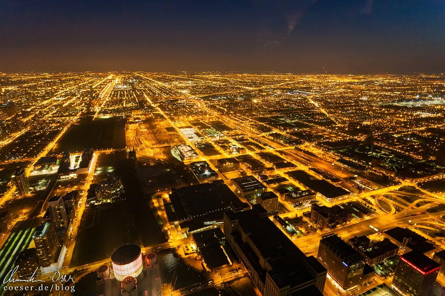 Aussicht vom Skydeck Chicago (Willis Tower)