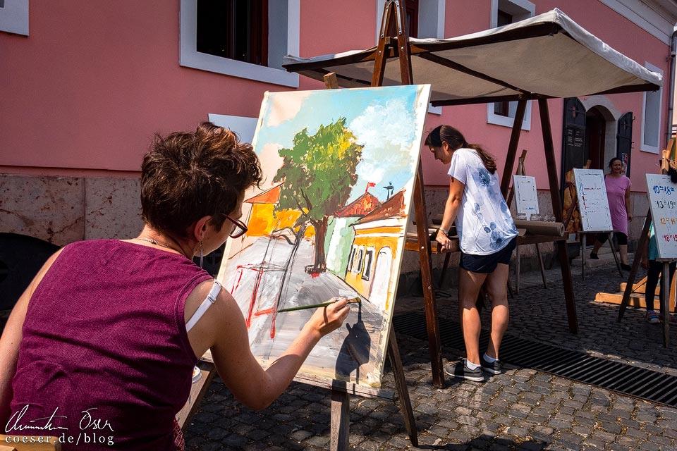Malerin im Künstlerdorf Szentendre