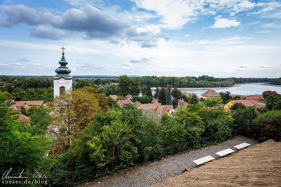 Aussichtspunkt auf die Donau im Künstlerdorf Szentendre