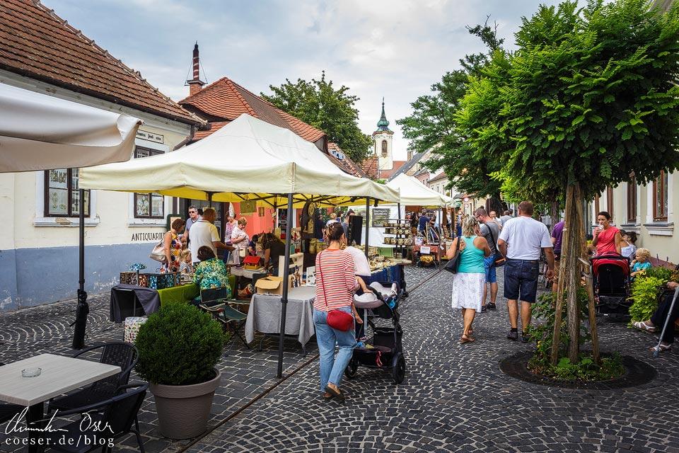 Straßenstände im Künstlerdorf Szentendre