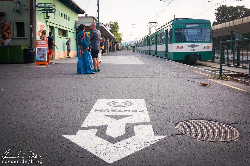 S-Bahn H5 im Künstlerdorf Szentendre