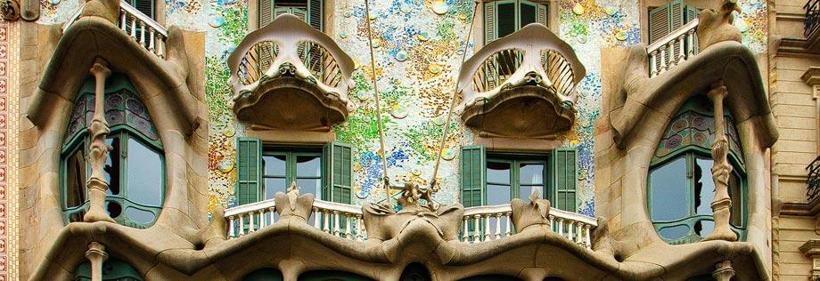 Fassade der Casa Batlló in Barcelona
