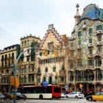 Außenansicht der Casa Batlló von Antoni Gaudì