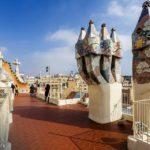 Dachterrasse in der Casa Batlló von Antoni Gaudì