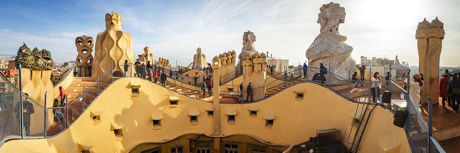 Dachterrasse der Casa Milà in Barcelona