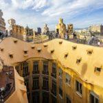 Dachterrasse in der Casa Milà von Antoni Gaudì in Barcelona