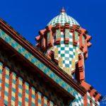 Detailansicht der Casa Vicens von Antoni Gaudì in Barcelona