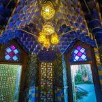Blauer Rauchersalon in der Casa Vicens von Antoni Gaudì in Barcelona