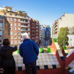 Dachterrasse in der Casa Vicens von Antoni Gaudì in Barcelona