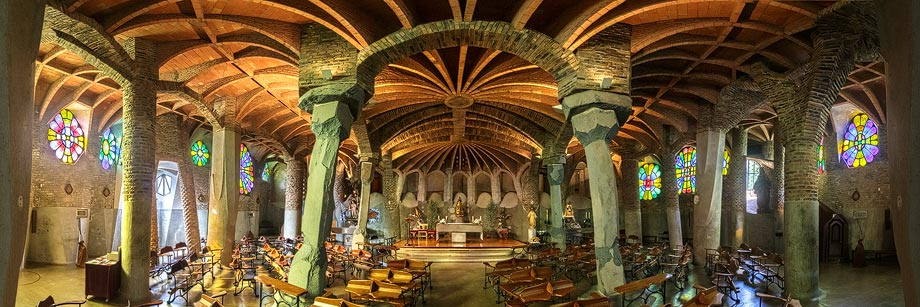 Cripta de la Colònia Güell in Barcelona