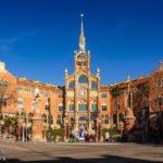 Außenansicht des Hospital de Sant Pau von Lluís Domènech i Montaner in Barcelona