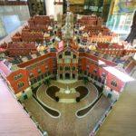 Modell des Hospital de Sant Pau von Lluís Domènech i Montaner in Barcelona