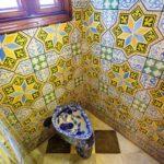 Toilette im Palau Güell von Antoni Gaudì in Barcelona