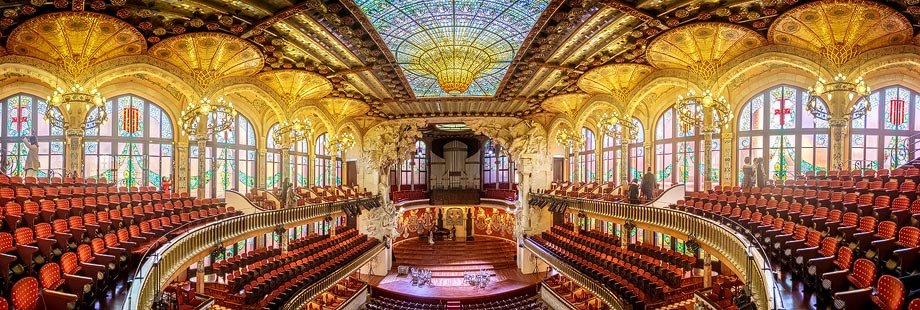 Panorama des Palau de la Música Catalana in Barcelona