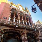 Außenansicht des Palau de la Música Catalana von Lluís Domènech i Montaner in Barcelona