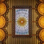 Die Decke im Palau de la Música Catalana von Lluís Domènech i Montaner in Barcelona