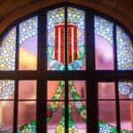 Glasfenster im Palau de la Música Catalana von Lluís Domènech i Montaner in Barcelona