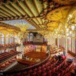 Konzertsaal im Palau de la Música Catalana von Lluís Domènech i Montaner in Barcelona