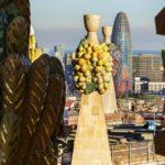 Ausblick vom Passionsturm der Sagrada Família von Antoni Gaudì in Barcelona