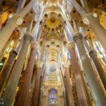 Innenansicht der Sagrada Família von Antoni Gaudì in Barcelona