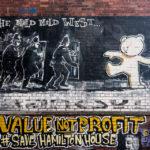 """""""Mild Mild West"""" (1999) von Banksy in Bristol"""