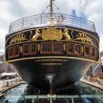 Außenansicht des Museumsschiffs Brunel's SS Great Britain