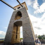 Pfeiler der Clifton Suspension Bridge in Bristol