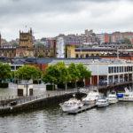 Ausblick von der Terrasse des Museums M Shed auf Bristol