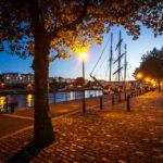 Abendstimmung im Hafen von Bristol